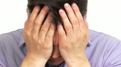 Man having stress. - stock footage