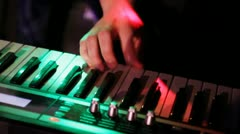 Keyboard player Stock Footage
