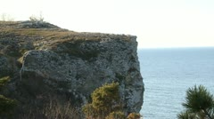 Lime stone cliff Stock Footage