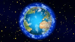 Cartoon Earth Stock Footage