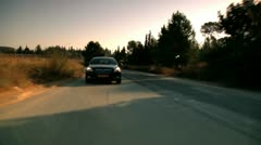 Car on the Road 1 Stock Footage