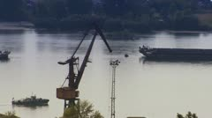 River industrial Stock Footage