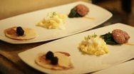 Breakfast tray - 1080p Stock Footage