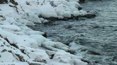 Icy sea coast Stock Footage