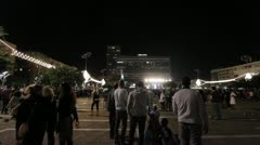 508 fireworks in Tel-Aviv sky Stock Footage
