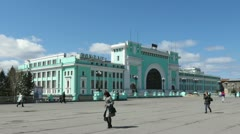 Central Station - Novosibirsk, Russia (timelapse) Stock Footage