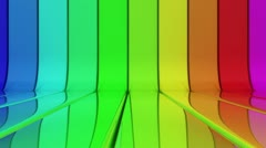 Loopable spectrum striped background - stock footage