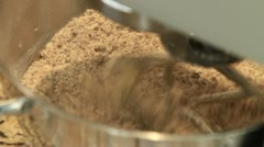 Cake ingredients being mixed in a food mixer Stock Footage
