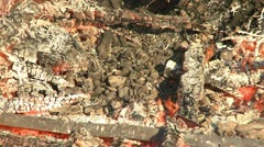 Celebrating Walpurgis Night with wood fires in Sweden Stock Footage