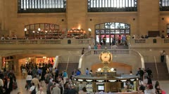 NYC Grand central terminal 2 time laps Stock Footage