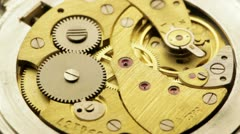 Watch gears very close up Stock Footage
