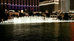 Las vegas - fountain Stock Footage