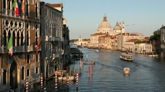 Grand Canal and Santa Maria Della Salute, Venice, Italy Stock Footage