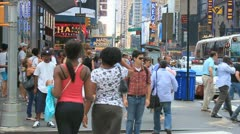 NY people 105 - Time laps Stock Footage