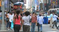 Stock Video Footage of NY people 105 - Time laps