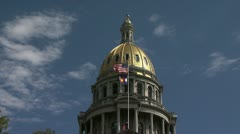Capital dome & flags Stock Footage