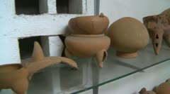 History & culture, Barriles culture carving broken pottery, dolly shot, #2 Stock Footage