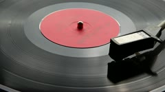 Old vinyl player - stock footage