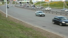 The system of police control over the highway. Videofiksatsiya speeding Stock Footage