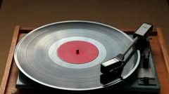 Old vinyl player Stock Footage
