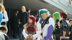 Novosibirsk - MAY 2011: People attend Festival an Anime and Manga Cosplay. Stock Footage