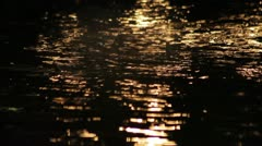 533 focus change from an artificial source of water to flowers at night Stock Footage