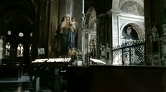 Virgin Mary in Roman church (zoom) Stock Footage