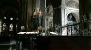 Stock Video Footage of Virgin Mary in Roman church (zoom)