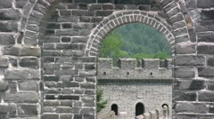 See through of the Great Wall Stock Footage