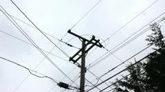 Utility pole Stock Footage