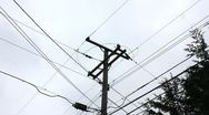 Utility pole Stock Footage