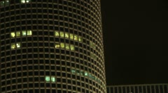 City Skyscraper at Night - Azrieli 2 - stock footage