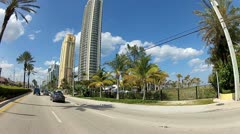 Sunny Isles Beach time lapse Stock Footage