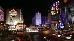 Las Vegas Boulevard Intersection - Las Vegas, NV - stock footage