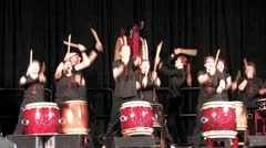 Asian Drums 2 Stock Footage