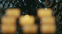 Rack focus church candles Stock Footage