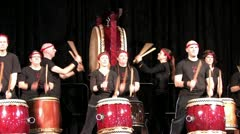 Asian Drums Stock Footage