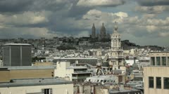 Panoramic view of Paris Stock Footage