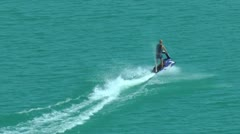 Speedy water scooter on Blue Lake Stock Footage