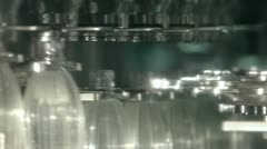 Production line of carbonated drinks - stock footage