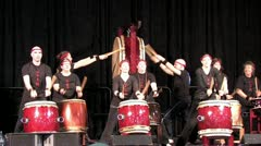Asian Drums 3 Stock Footage