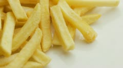 Stock Video Footage of French Fries on plate