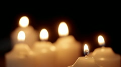 Tilt down to candles - stock footage