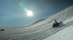 Snowmobile - stock footage