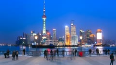 "Shanghai in China, Timelapse(Zoom In).>>>Please search more: ""ShanghaiSkyline"" Stock Footage"