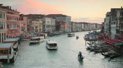 Grand Canal from Rialto Bridge, Venice, Italy Stock Footage