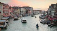 Grand Canal from Rialto Bridge, Venice, Italy Stock Footage
