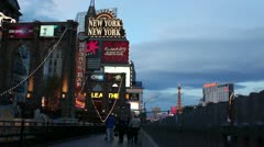 Las vegas - signs new york Stock Footage