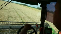 The view from the cockpit combine Stock Footage