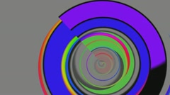 Color rings on a gray background Stock Footage